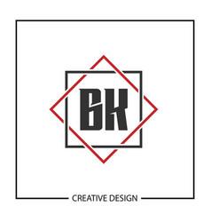 Initial letter bk logo template design vector