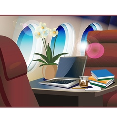 Interior private jet vector