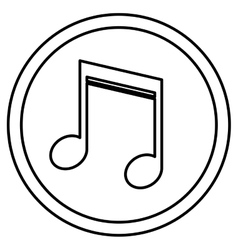 Isolated music note inside button design vector
