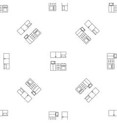 kitchen modern furniture pattern seamless vector image