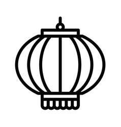 lamp chinese lunar new year line style icon vector image
