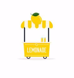 Lemonade stand cart street food cart vector