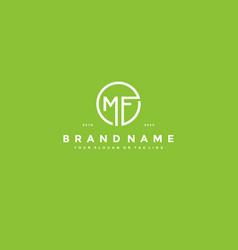 Letter mf logo design vector