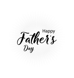 lettering happy fathers day handmade calligraphy vector image