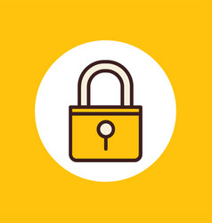 lock icon sign symbol vector image