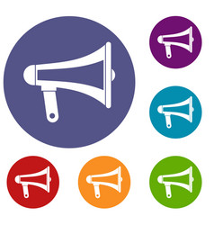 loudspeaker icons set vector image