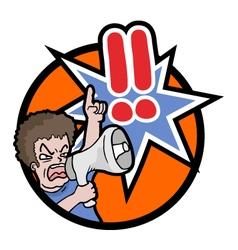megaphone alarm symbol vector image