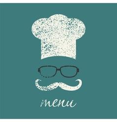 menu vintage vector image