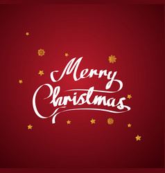 merry christmas text and new year xmas background vector image