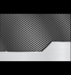 metal perforated background with steel brushed vector image