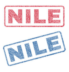 Nile textile stamps vector