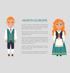 North europe people customs vector
