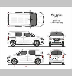 Opel combo combi van l1 2018-present vector