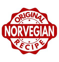 Original norvegian recipe grunge rubber stamp vector