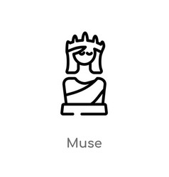 Outline muse icon isolated black simple line vector