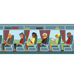 Passengers travelling by bus vector image vector image