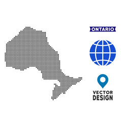 Pixelated ontario province map vector
