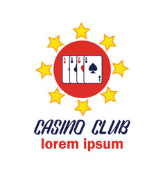 poker casino logo with text space for your slogan vector image