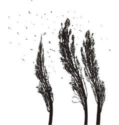 Poplars in the wind vector