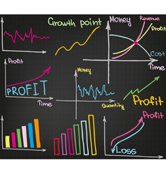 Profit growth vector image