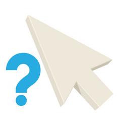 Question pointer icon cartoon style vector