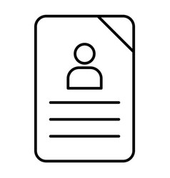 Questionnaire thin line icon document vector