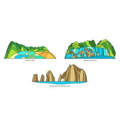 Set signs mexican landscapes vector