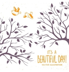 silhouette of branches vector image