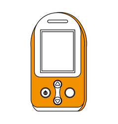 Sketch color silhouette tech generic gps device vector