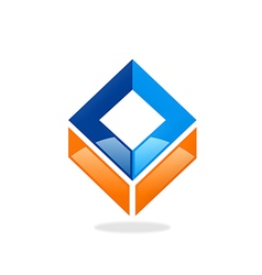 Square abstract construction logo vector