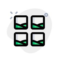 Square image block grids representing collage vector