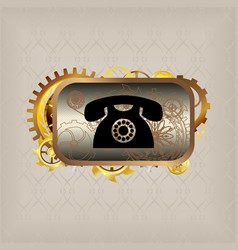 Steampunk elements flat icons vector