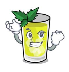 Successful mint julep character cartoon vector
