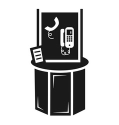 Telephone info kiosk icon simple style vector