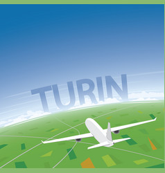 Torino flight destination vector