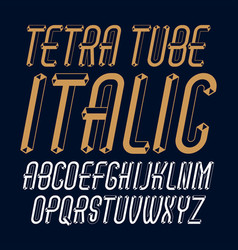 trendy modern capital uppercase alphabet letters vector image