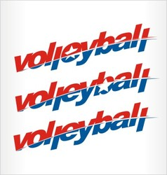 Volleyball logo word text vector