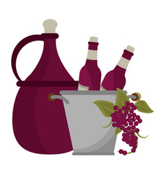 wine and gastronomy concept vector image