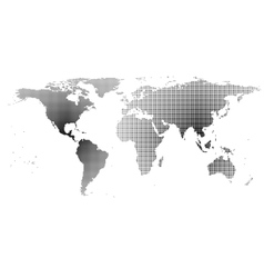 world map background vector image