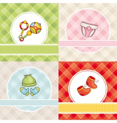 abstract set of cute baby cards vector image vector image