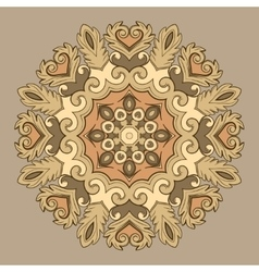 Beautiful round ornamental element for design in vector image