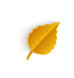 Cartoon autumn fallen oak leaf isolated vector