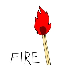 Fire flames set icons vector image