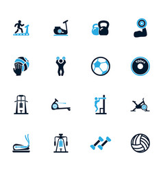 sport equipments icons set vector image