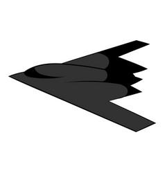stealth bomber icon icon cartoon vector image