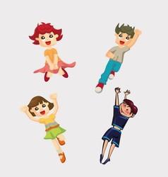 Cute Cartoon Boys and Girls Clip Art vector image vector image
