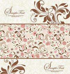 floral wedding card vector image vector image