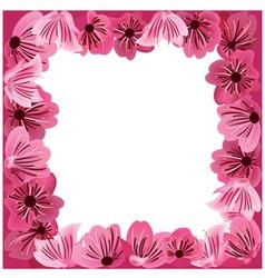 flowers frame floral background vector image