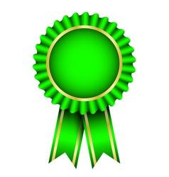 green badge vector image