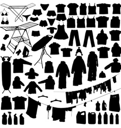 laundry silhouettes vector image